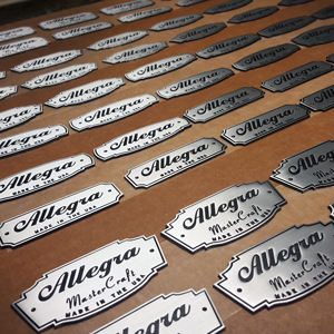 Allegra Drums Hand Cast Badges