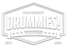 Drummies Winner, Custom Drum Builder 2011 and 2016