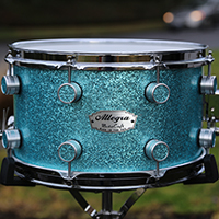 13 x 7.5 in Turquoise Sparkle